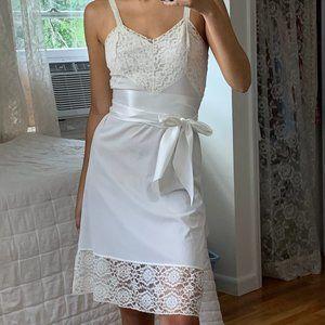 Vintage White Lace Slip Dress Boho Pinup